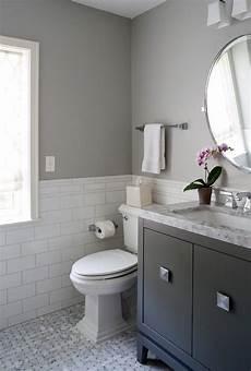 Bathroom Ideas Half Tiled Walls by Dc Metro Half Bath Designs Bathroom Traditional With