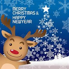 merry christmas and rudolph stock vector image 46757226
