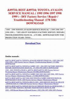 download car manuals pdf free 2008 toyota avalon head up display toyota avalon service manual 1995 1996 1997 1998 1999 diy factory service repair pdf by david