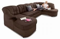 wohnlandschaft flores mit schlaffunktion braun sofas