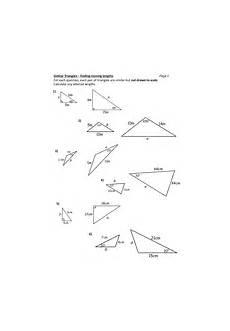 similar triangles worksheet teaching resources