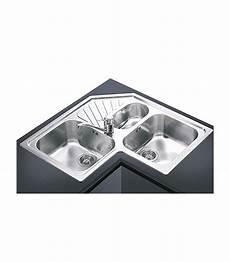 lavello angolare cucina lavello angolare a 3 vasche da cucina in acciaio inox smeg