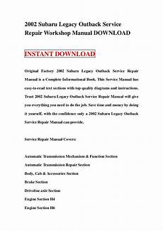 automotive repair manual 2002 subaru outback auto manual 2002 subaru legacy outback service repair workshop manual download