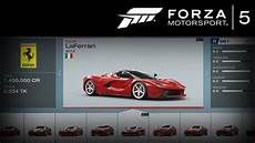 forza 5 all cars w stats limited edition cars included