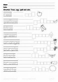 colors spelling printable 12809 kindergarten math and literacy printables february colors the flowers and the o jays