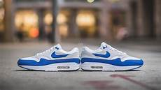 review nike air max 1 anniversary quot white blue quot og vs re