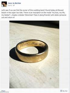 couple reunited with lost wedding ring aol com
