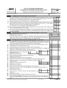 irs form 4972 download fillable pdf 2018 tax lump sum distributions templateroller