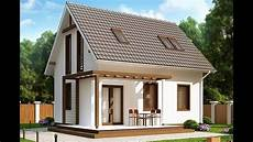 beautiful small house with attic cheap in construction