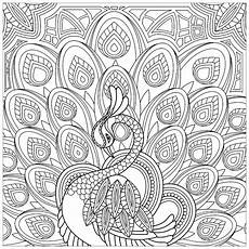 squared coloring page of a peacock peacocks