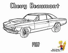 Brawny Muscle Car Coloring Pages  American Cars
