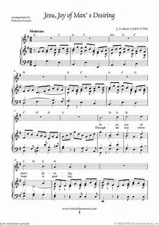 jesu joy of man s desiring piano sheet music easy pdf