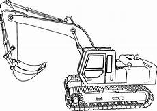 Ausmalbilder Bagger Cat Excavator Side Coloring Page Wecoloringpage