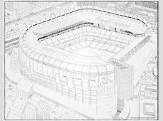 Real Madrid Stadium, Hand drawn   montoroengineer