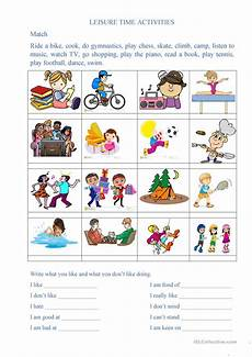 leisure time esl worksheets 3799 leisure time activities esl worksheets for distance learning and physical classrooms