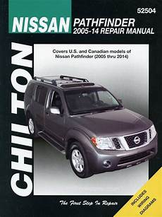 car repair manuals download 2008 nissan pathfinder user handbook nissan pathfinder repair manual 2005 2014 chilton 52504