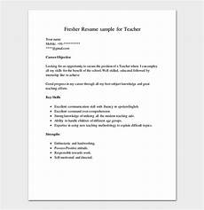 resume template for freshers 18 sles in word pdf foramt