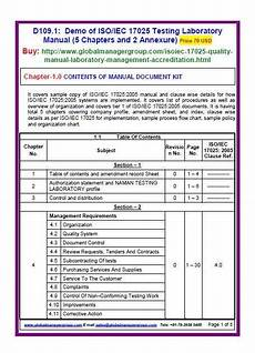 iso iec 17025 2005 lab management system quality manual 5