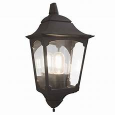 elstead chapel 3 sided flush outdoor wall light lantern