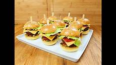 Partysnacks Fingerfood Kalt - mini hamburger als partysnack cheeseburger fingerfood