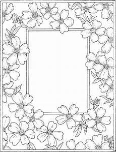 Ausmalbilder Weihnachten Rahmen Rahmen Blueten Ausmalbild Malvorlage Blumen