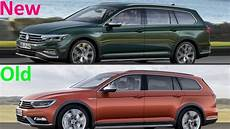 new 2020 vw passat alltrack facelift vs vw passat