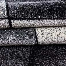 wohnzimmerteppich grau kurzflor design teppich konturschnitt modern gemustert