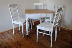 Shabby Chic Tisch Mit 4 St 252 Hlen Tischlerei Antikhandel