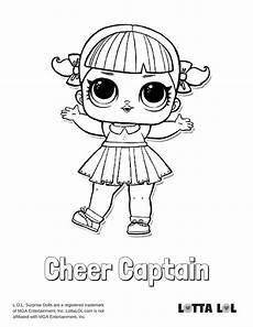 cheer captain coloring page lotta lol bilder lotta
