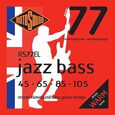 Rotosound Jazz Bass 77 Monel Scale Flatwound