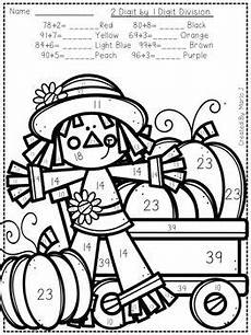 division coloring worksheets 4th grade 6141 division color by number fall themed division thanksgiving crafts for toddlers
