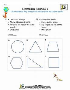 geometry worksheets second grade 887 free geometry worksheets 2nd grade geometry riddles