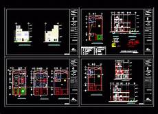 house plan dwg three story house with garden 2d dwg full plan for autocad