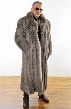 mens fur coat herren pelz silberfuchs mantel silverfox