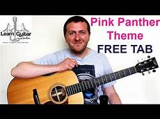 tutorial pink panther fingerstyle guitar w tab inc doovi
