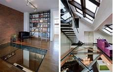 un plancher de verre chic et unique habitation