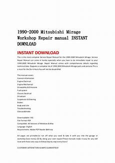 free service manuals online 1990 mitsubishi mirage head up display 1990 2000 mitsubishi mirage workshop repair manual instant download
