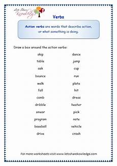grade 3 grammar topic 13 verbs worksheets lets share knowledge