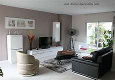 salon meuble noir s 233 jour contemporain taupe gris blanc noir living