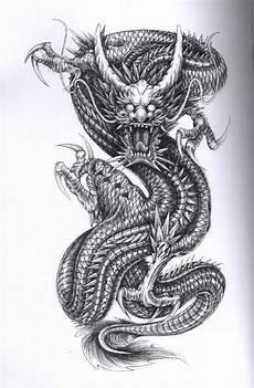Ausmalbilder Japanische Drachen Drache Tattoos Sind Typisch M 228 Nnliche Tattoos