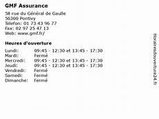 ᐅ Gmf Assurance Horaires D Ouverture 58 Rue Du G 233 N 233 Ral