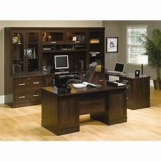 home office suite furniture set sauder office port executive desk 29 12 h x 65 12 w x 29