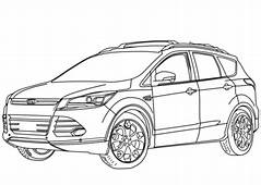 2014 Ford Escape Coloring Page  Free Printable Pages