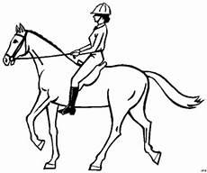 Malvorlage Pferd Reiterin Reiterin Mit Helm Auf Pferd Ausmalbild Malvorlage Sport