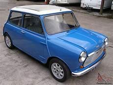 Classic Mini Cooper Blue White 1968 With Cooper S