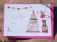 Pack 6 Cartes D Invitation Anniversaire Fille Gateau