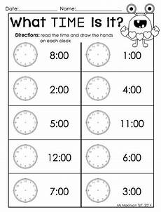 printable time worksheets for 1st grade 3732 february printable packet kindergarten literacy and math telling time by the hour s