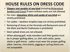 House Rules ? Valley Golf and Country Club, Inc