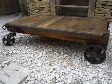 Table Basse Chariot D Atelier Ch 202 Ne Roulettes Fonte 1920