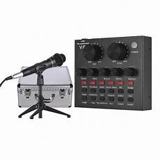 Bluetooth Live Sound Card Tiktok by Usb Sound Card Microphone With Tripod Audio Cable Earphone